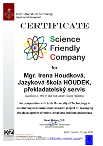 Jazyková škola HOUDEK - science friendly company